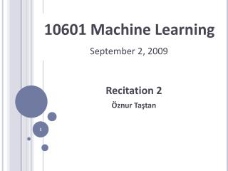 10601 Machine Learning
