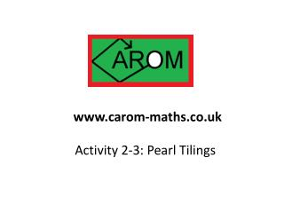 Activity 2-3: Pearl Tilings