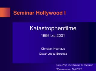 Seminar Hollywood I