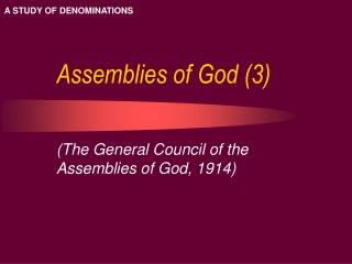 Assemblies of God (3)