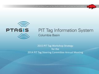 2015 PIT Tag  Workshop Strategy for the  2014  PIT Tag Steering Committee Annual Meeting