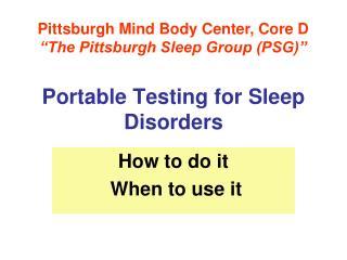 Portable Testing for Sleep Disorders