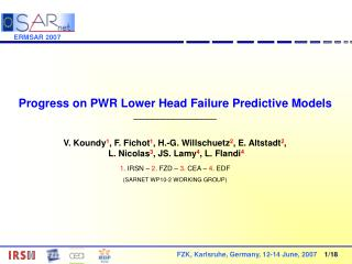 Progress on PWR Lower Head Failure Predictive Models _________________