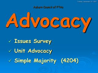 Auburn Council of PTAs Advocacy