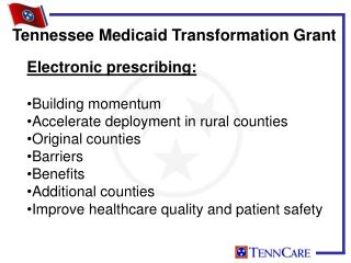 Electronic prescribing: Building momentum Accelerate deployment in rural counties