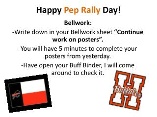 Happy Pep Rally Day!