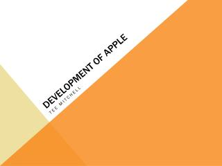 Development of Apple