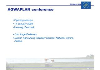 AGWAPLAN conference