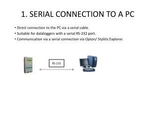 1.  SERIAL CONNECTION TO A PC
