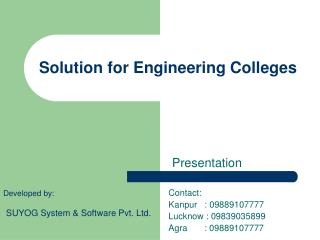 Solution for Engineering Colleges