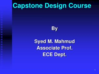 Capstone Design Course