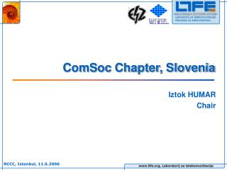 ComSoc Chapter, Slovenia