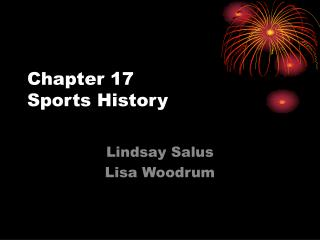 Chapter 17 Sports History