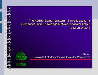 L J Haravu Kesavan Inst. of Information and Knowledge Management