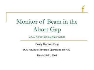 Monitor of Beam in the Abort Gap