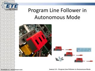 Program Line Follower in Autonomous Mode