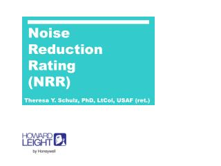 Noise Reduction Rating (NRR)