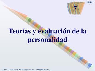 Teorías y evaluación de la personalidad