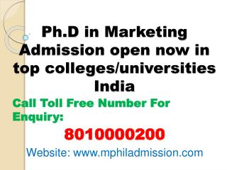 Distance Learning Ph.D in Marketing Admission-8010000200