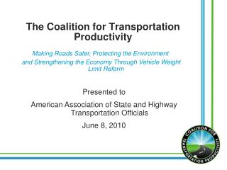The Coalition for Transportation Productivity