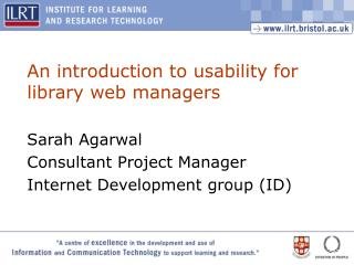 An introduction to usability for library web managers