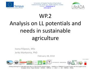 WP.2 Analysis  on LL potentials and needs in sustainable agriculture
