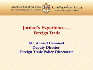 Jordan's Foreign Trade Policy