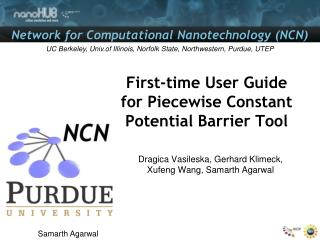 First-time User Guide for Piecewise Constant Potential Barrier Tool
