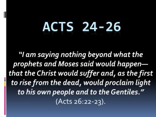 Acts 24-26
