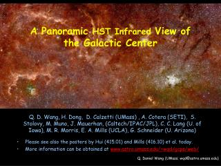 A Panoramic  HST Infrared  View of the  Galactic  Center