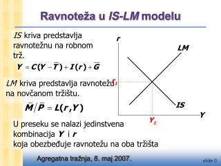 Ravnoteža u  IS-LM  modelu