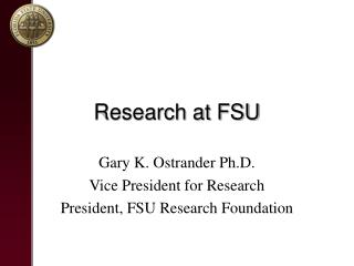 Research at FSU
