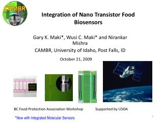 Integration of Nano Transistor Food Biosensors