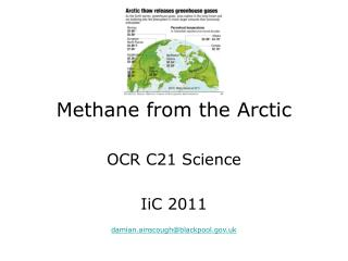 Methane from the Arctic
