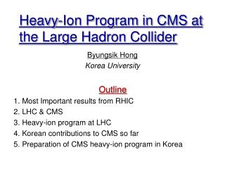 Heavy-Ion Program in CMS at the Large Hadron Collider