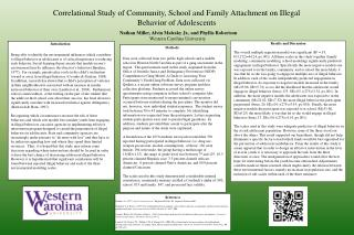 Correlational Study of Community, School and Family Attachment on Illegal Behavior of Adolescents