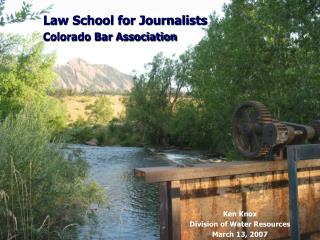 Law School for Journalists Colorado Bar Association