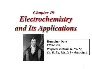 Electrochemistry  and Its Applications