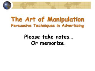 The Art of Manipulation Persuasive Techniques in Advertising