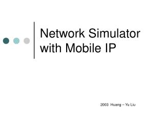 Network Simulator with Mobile IP