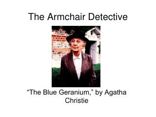 The Armchair Detective