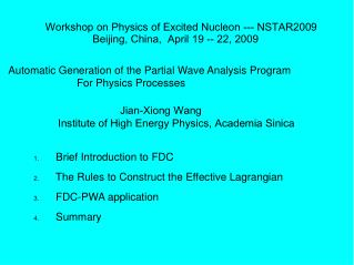Automatic Generation of the Partial Wave Analysis Program