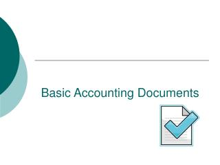 Basic Accounting Documents