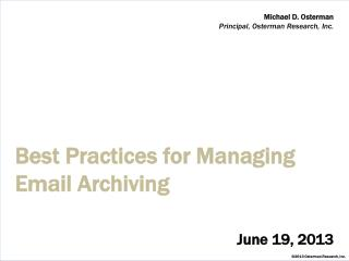 Best Practices for Managing Email Archiving