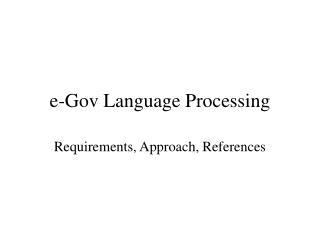 e-Gov Language Processing