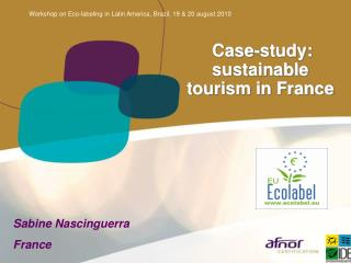 Case-study: sustainable tourism in France
