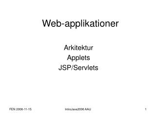 Web-applikationer