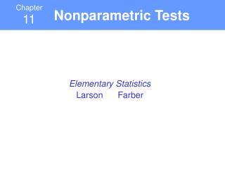 Nonparametric Tests