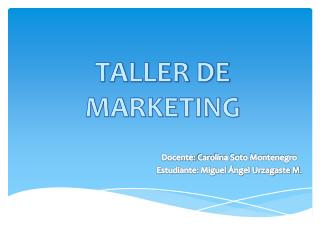 TALLER DE MARKETING