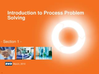 Introduction to Process Problem Solving